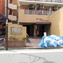 ライオンズマンション新宿5丁目のエントランス
