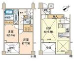 オープンレジデンス桜新町B棟【メゾネットタイプ】の間取り