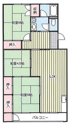 浦和辻第1住宅の間取り
