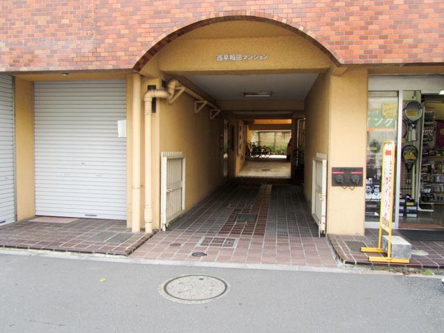 西早稲田マンションのエントランス