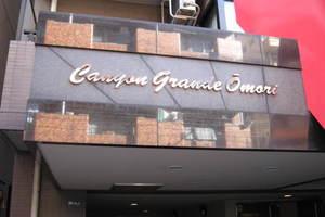 キャニオングランデ大森の看板
