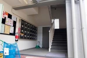 竹ノ塚マンションのエントランス