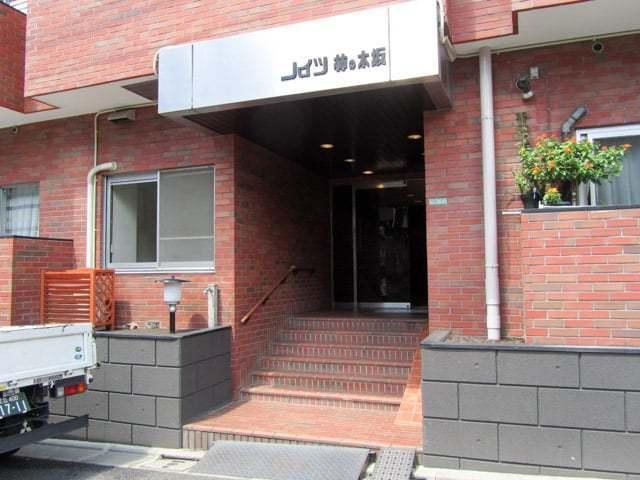 ハイツ柿ノ木坂のエントランス