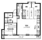 多摩川住宅ト-2号棟の間取り