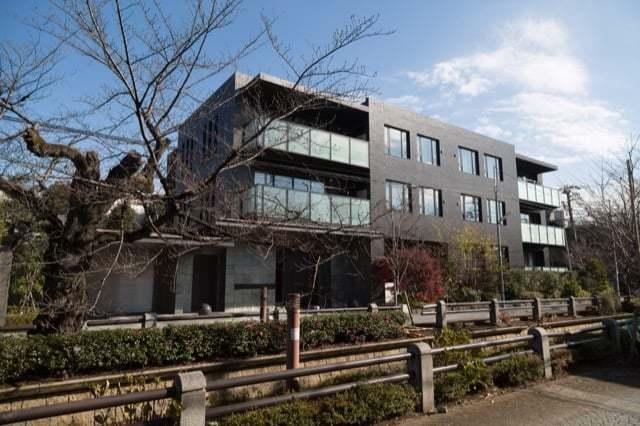 パークハウス新町櫻雅の外観