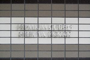 プレミアムキューブジー渋谷神南の看板
