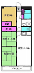 新松戸南パークハウスA棟の間取り