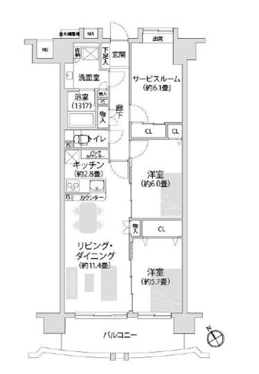 クレストフォルム新横浜の間取り