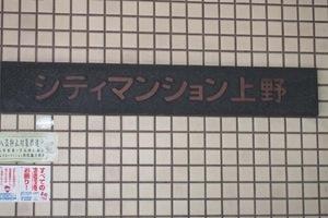シティマンション上野の看板