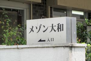 メゾン大和(新宿区)の看板
