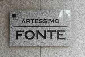 アルテシモフォンテの看板