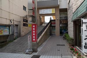 マンション代田橋のエントランス