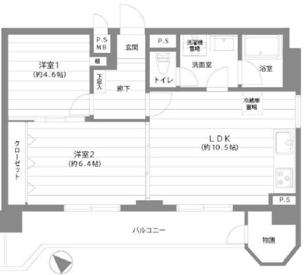 横浜磯子住宅の間取り