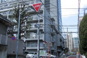 日商岩井南平台マンションの外観