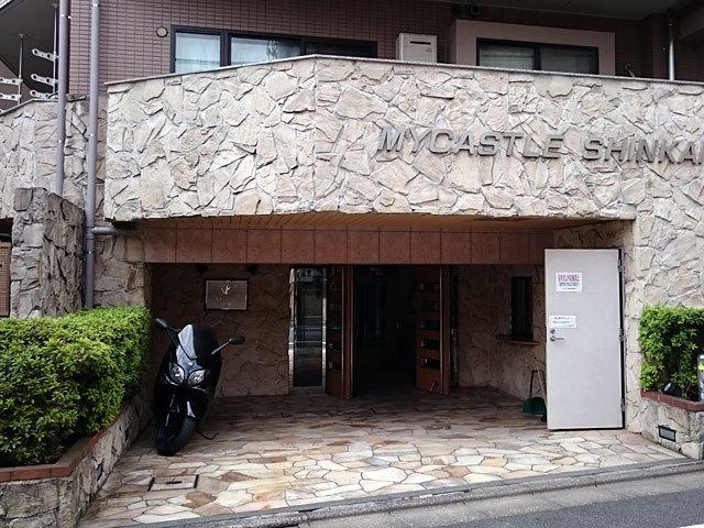 マイキャッスル新蒲田のエントランス