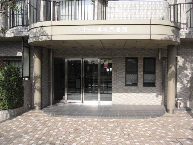 ハイホーム亀有弐番館のエントランス