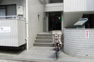 朝日プラザ北新宿のエントランス