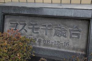 コスモ千歳台の看板