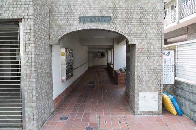 善福寺城和ハイツのエントランス