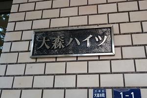 大森ハイツ(大田区)の看板