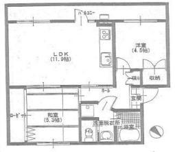 磯辺第1住宅団地16号棟の間取り