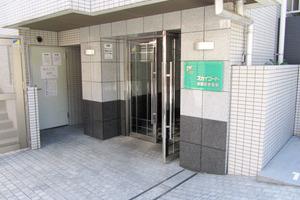 スカイコート神楽坂参番館のエントランス