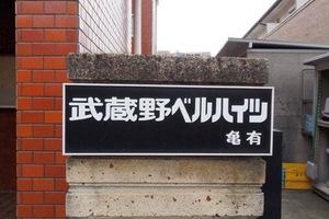 武蔵野ベルハイツ亀有の看板