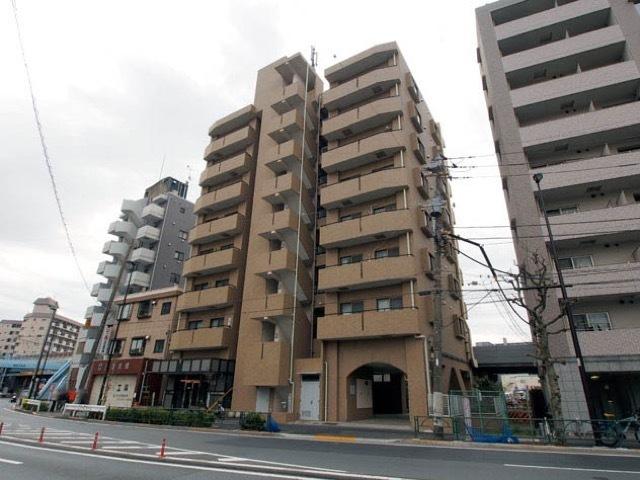 プレール京成関屋駅前の外観