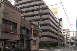 ライオンズマンション日本橋浜町の外観