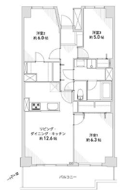 横浜パークタウンG棟の間取り