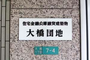 大橋団地久保ビルの看板