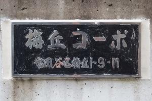 梅丘コーポの看板