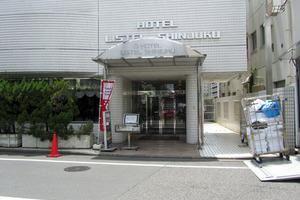 ホテルリステル新宿のエントランス