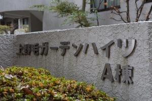 上野毛ガーデンハイツの看板