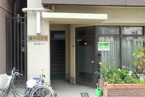 菊川ハイツのエントランス