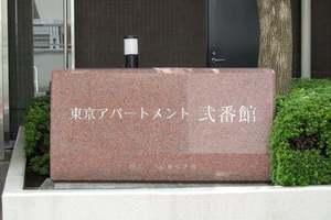 東京アパートメント弐番館の看板