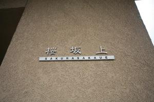 桜坂上の看板