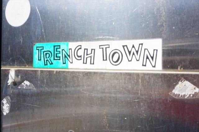 トレンチタウンの看板