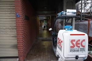 クイーンハイツ三田のエントランス