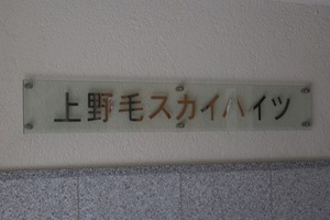 上野毛スカイハイツの看板