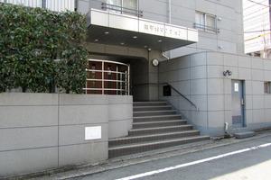 日商岩井南平台マンションのエントランス