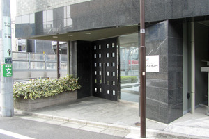 クレアシオン渋谷神山町のエントランス