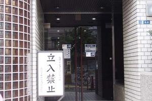 上野ロイヤルハイツのエントランス