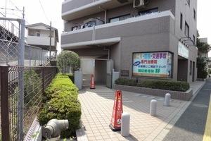 コスモ堀切菖蒲園駅前のエントランス