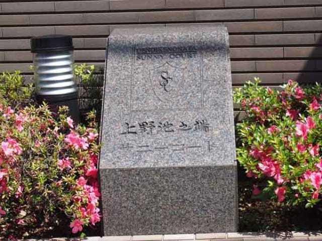 上野池之端サニーコートの看板