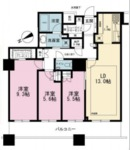 ザパークハウス西新宿タワー60の間取り