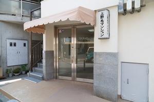 上野毛マンションのエントランス
