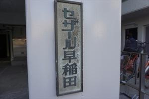 セザール早稲田の看板