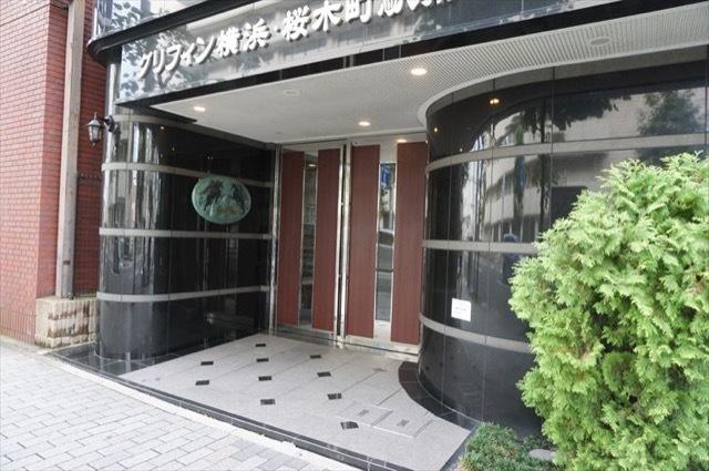 グリフィン横浜桜木町駅前のエントランス
