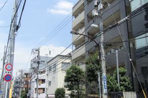 プレールドゥーク北新宿の外観